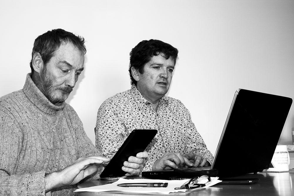 Mike & Simon Working