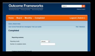 Outcome Frameworks