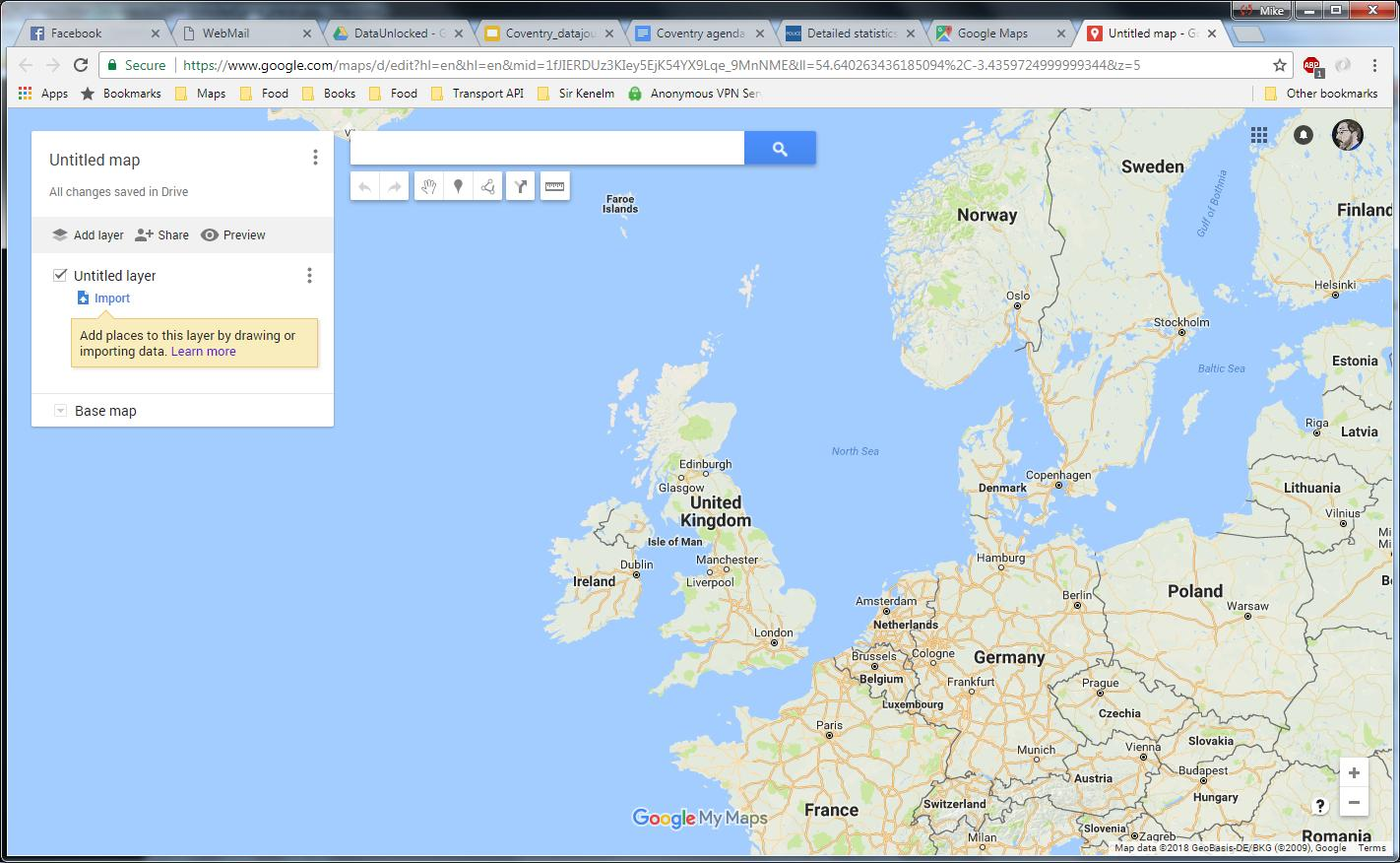 Google maps a clue is given to import data onto a new untitled layer which i selected publicscrutiny Gallery